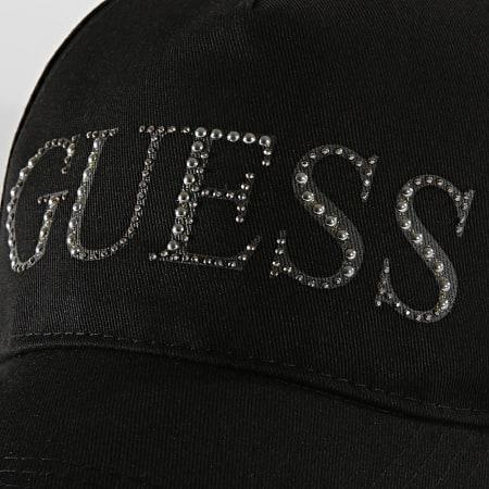 Guess - Casquette Baseball Femme Strass AW8160COT Noir