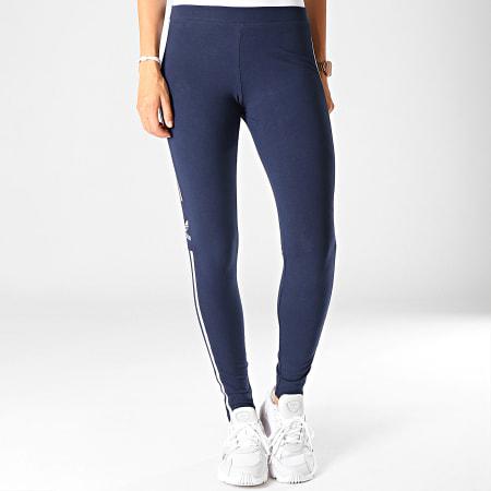 adidas - Legging Femme Trefoil ED7489 Bleu Marine Blanc ...