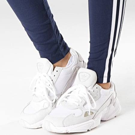 adidas Legging Femme Trefoil ED7489 Bleu Marine Blanc
