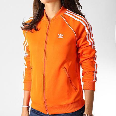 veste adidas noir et orange femme