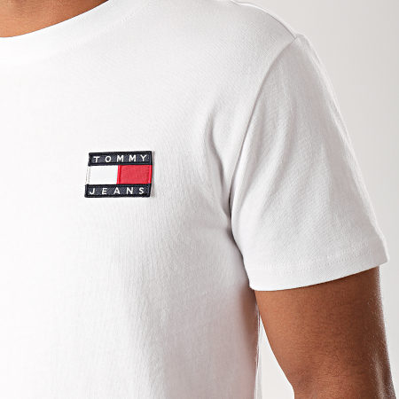 Tommy Hilfiger Jeans - Tee Shirt Badge 6595 Blanc