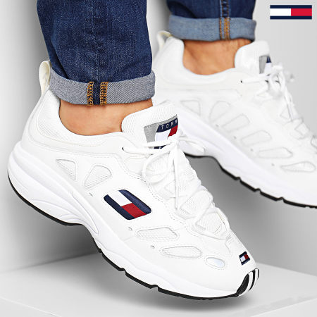 Tommy Hilfiger - Baskets Tommy Jeans Retro Sneaker 0344 100 White