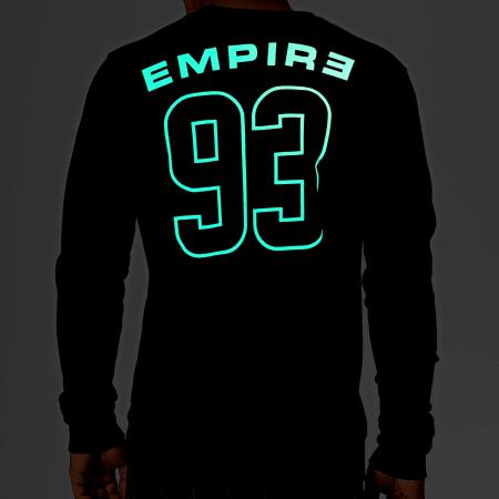 93 Empire - Sweat Crewneck Glow In The Dark Dossard Noir