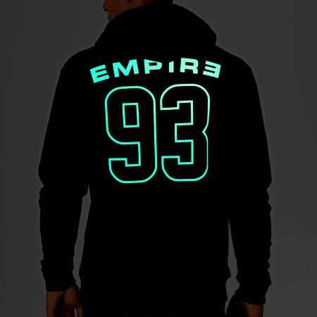93 Empire - Sweat Capuche Glow In The Dark Dossard Noir