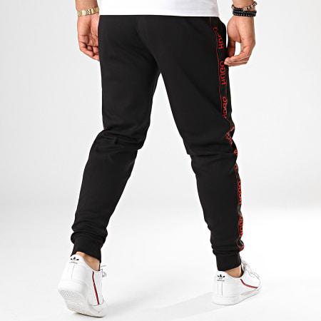 HUGO by Hugo Boss - Pantalon Jogging A Bandes Reverse Logo Daschkent 50414429 Noir Rouge