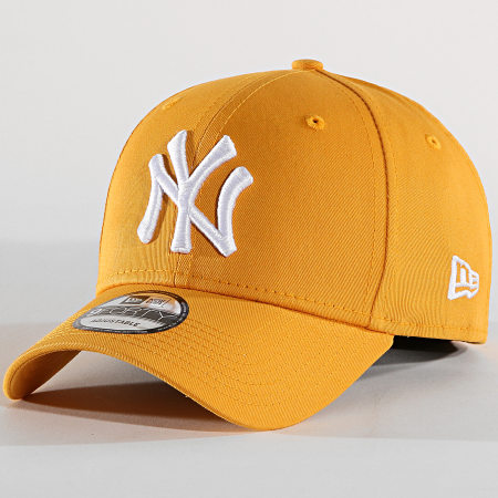 New Era - Casquette Baseball 9Forty League Essential New York Yankees 80636013 Jaune Moutarde Blanc