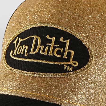 Von Dutch - Casquette Trucker Flak Noir Or