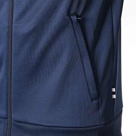 adidas Veste Zippée Real 3 Stripes DX8709 Bleu Marine
