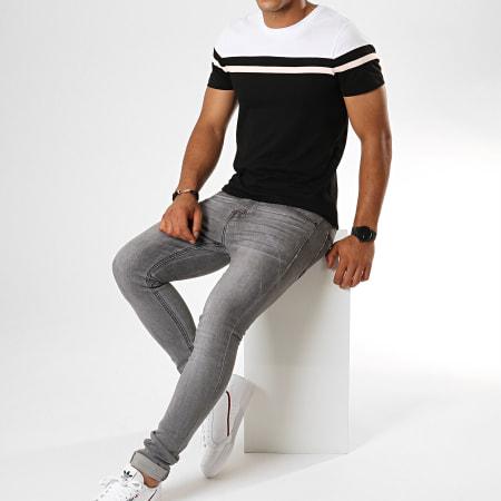 LBO - Tee Shirt Tricolore 800 Noir Rose Blanc