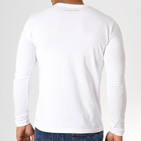 Teddy Smith - Tee Shirt Manches Longues Ticlass 3 Blanc Noir