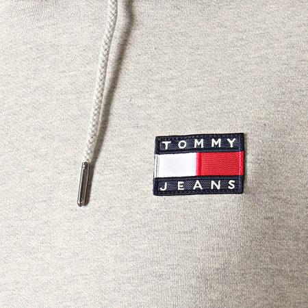 Tommy Hilfiger Jeans - Sweat Capuche Badge 6593 Gris Chiné
