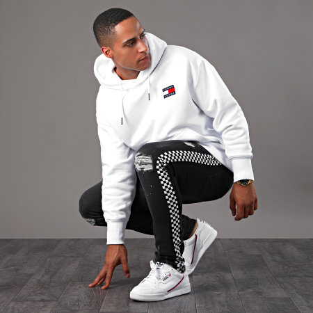 Tommy Hilfiger Jeans - Sweat Capuche Badge 6593 Blanc