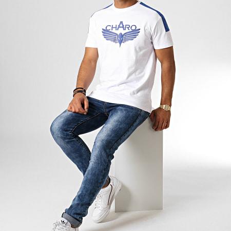 Charo - Tee Shirt Unlimited WY4763 Blanc Bleu