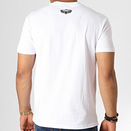 Charo - Tee Shirt Bitume WY4775 Blanc