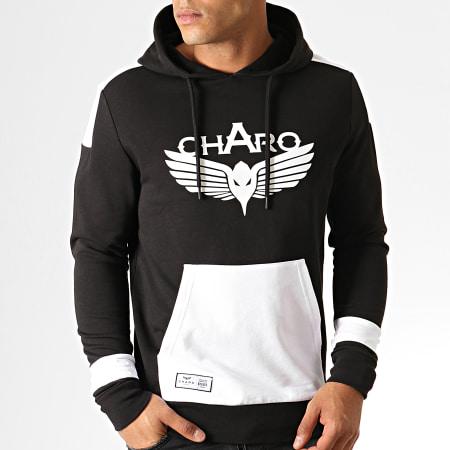 Charo - Sweat Capuche Unlimited WY4790 Noir Blanc