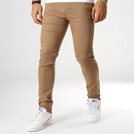 Classic Series - Pantalon Carreaux M-3161 Marron Noir