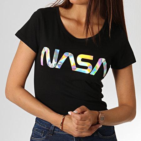 NASA - Tee Shirt Femme Iridescent Noir