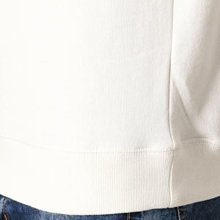 Schott NYC Sweat Capuche Logo Blanc Cassé