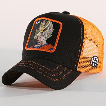 Dragon Ball Z - Casquette Trucker Goku Noir Orange