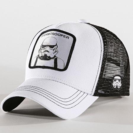 Star Wars - Casquette Trucker Storm Trooper Blanc Noir