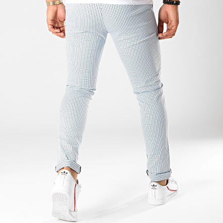 Classic Series - Pantalon Carreaux M-3149 Bleu Clair Noir