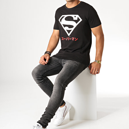 Superman - Tee Shirt Superman Japan Noir