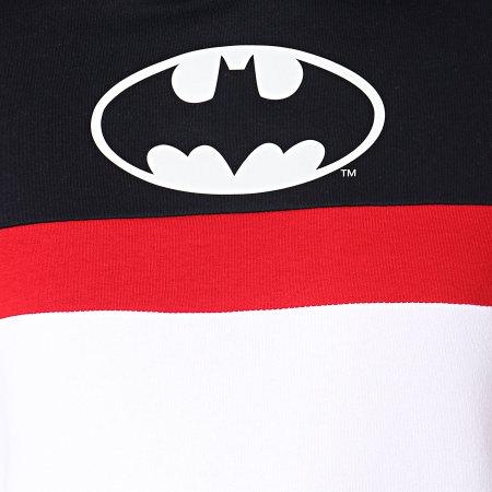 Batman - Sweat Capuche Batman Tape Tricolore Bleu Marine Blanc Rouge
