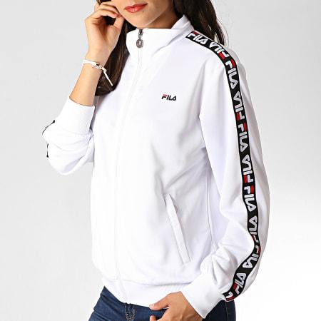 Fila - Veste Zippée Femme A Bandes Talli 687069 Blanc