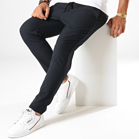 Only And Sons - Pantalon Carreaux Linus Bleu Marine
