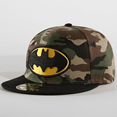 Batman - Casquette Snapback Logo Camo Vert Kaki