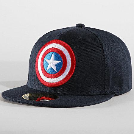 Captain America - Casquette Snapback Captain America Bleu Marine