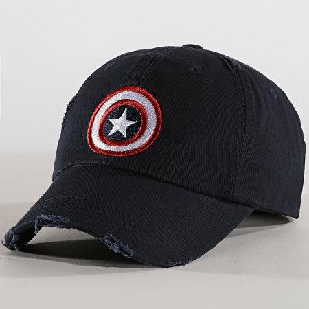 Captain America - Casquette Shield Bleu Marine