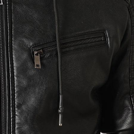 Classic Series - Veste Biker Capuche LP5538M Noir