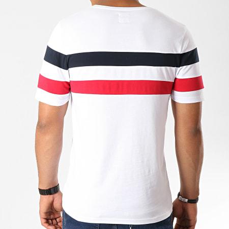LBO - Tee Shirt Avec Bandes 833 Bleu Rouge Blanc
