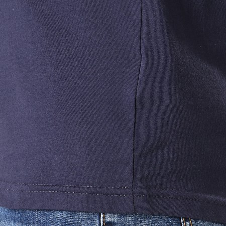 Puma - Polo Manches Courtes OM Sideline 756414 Bleu Marine Blanc