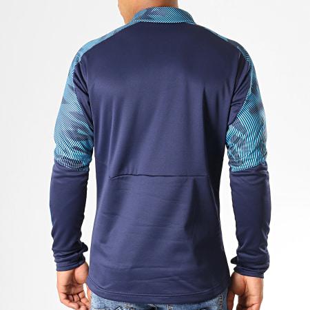 Puma - Sweat Col Zippé OM Training Fleece 755843 Bleu Marine Bleu Clair