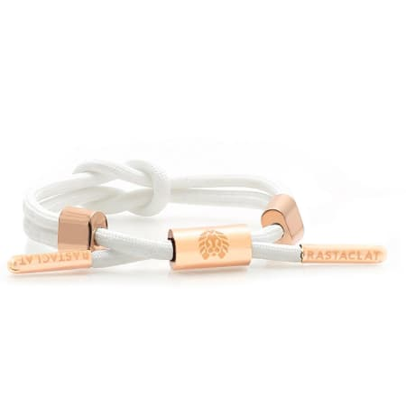 Rastaclat - Bracelet Lily 2 Knot Blanc Or Rose