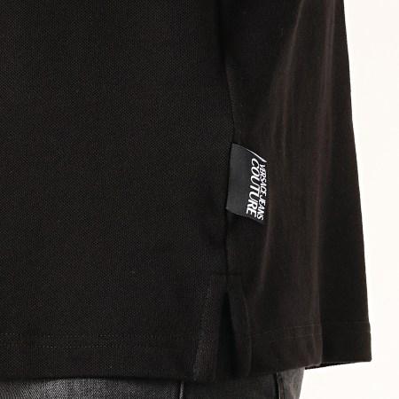 Versace Jeans Couture - Polo Manches Longues Medal Embroidery B3GUA7P6 Noir Doré