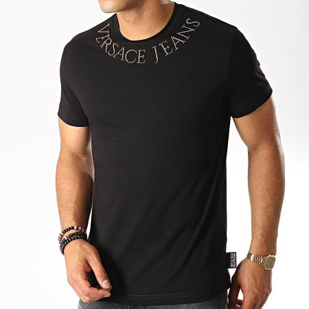 Versace Jeans - Tee Shirt Strass B3GUA7KC Noir Doré
