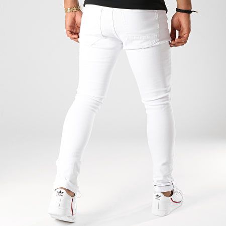 LBO - Jean Skinny Avec Déchirures LB054-5 Blanc