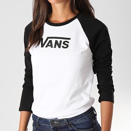 Vans Tee Shirt Femme Manches Longues Raglan Flying V Blanc