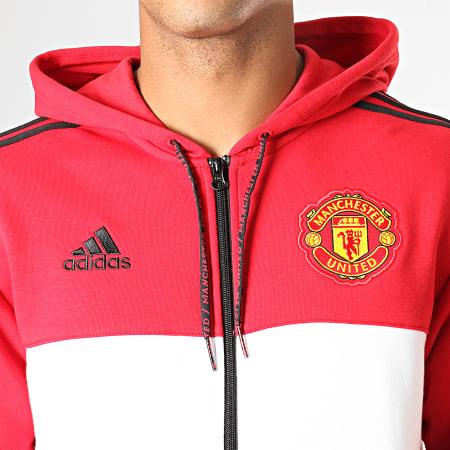adidas Veste Zippée Capuche A Bandes Manchester United FZ