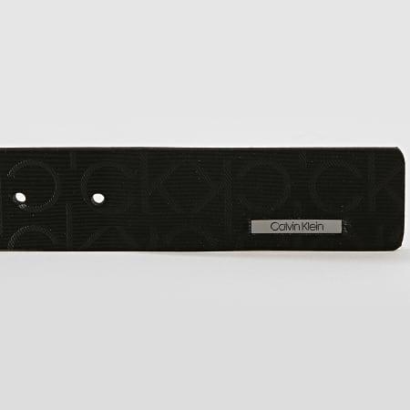 Calvin Klein - Ceinture Industrial Monogram 4884 Noir Gunmetal