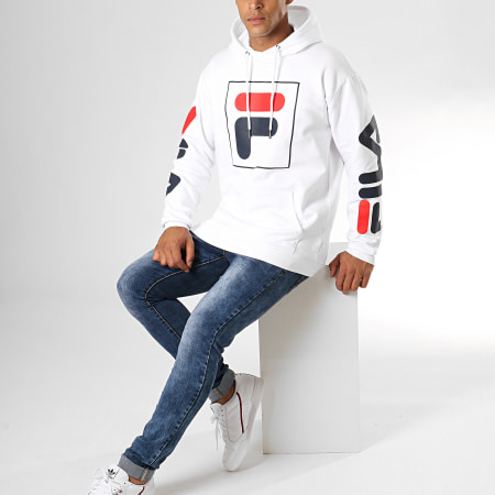 Fila - Sweat Capuche Total Hoody 682355 Blanc