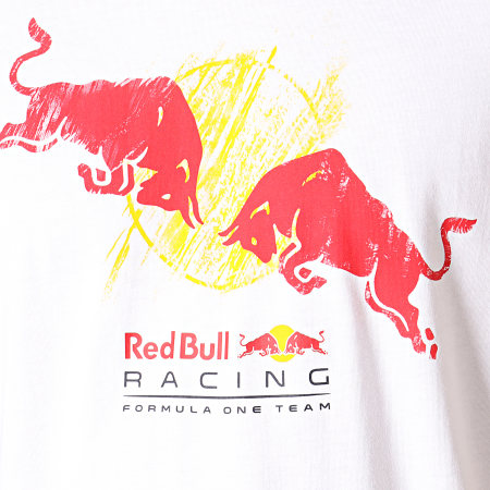 Puma - Tee Shirt Red Bull Racing Double Bull 595464 Blanc
