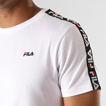 Fila - Tee Shirt A Bandes Vainamo 687217 Blanc Noir Rouge