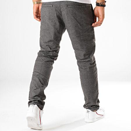 Tom Tailor - Pantalon Carreaux 1012738 Gris Anthracite