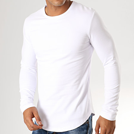 Aarhon - Tee Shirt Manches Longues Oversize 19-024 Blanc