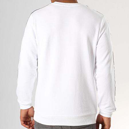 Fila - Sweat Crewneck A Bandes Aren 682363 Blanc Noir Rouge