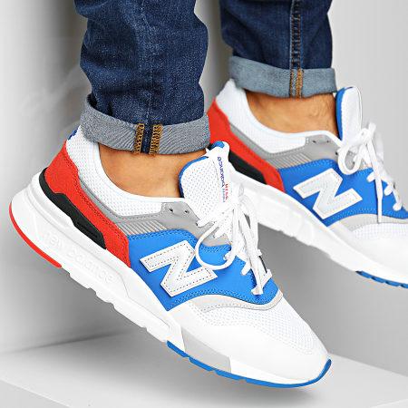 New Balance - Baskets Classics 997 738141-60 White Blue Orange